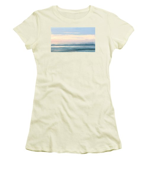 Abstract Morning Sea Women's T-Shirt (Athletic Fit)
