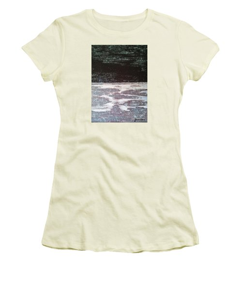 Women's T-Shirt (Junior Cut) featuring the painting Abstract Nail Polish Jg7 by Jasna Gopic