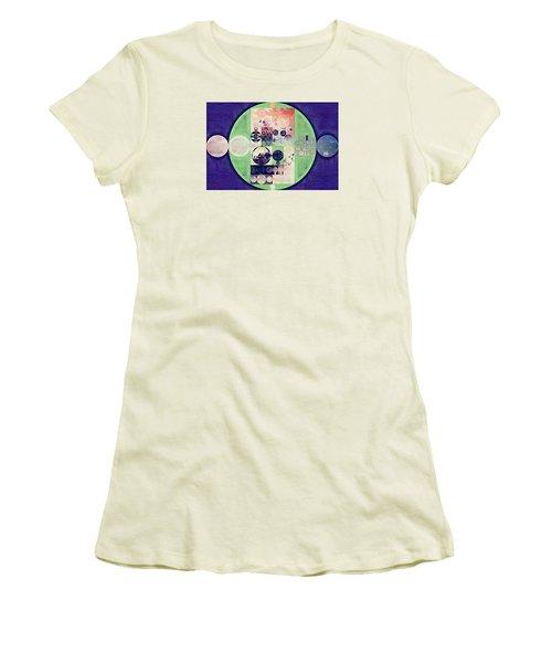 Women's T-Shirt (Junior Cut) featuring the digital art Abstract Painting - Blanc by Vitaliy Gladkiy