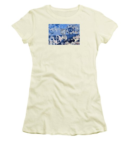 Abstract Painting - Blue Whale Women's T-Shirt (Junior Cut) by Vitaliy Gladkiy