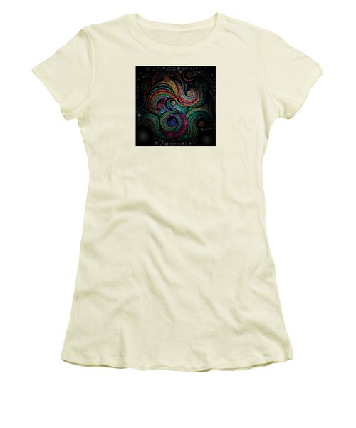 Women's T-Shirt (Junior Cut) featuring the pastel Abstract by Sheila Mcdonald