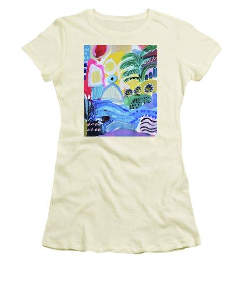 Abstract Tropical Landscape Women's T-Shirt (Junior Cut) by Amara Dacer