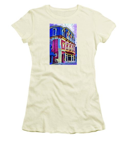 Abstract Urban Women's T-Shirt (Athletic Fit)