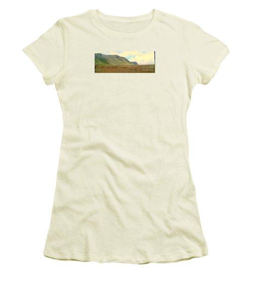 Active Volcano Women's T-Shirt (Junior Cut) by John Potts