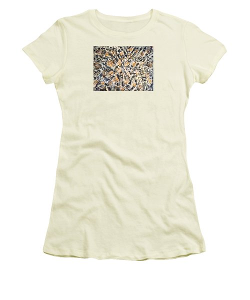 Women's T-Shirt (Junior Cut) featuring the painting Africa Iv by Fereshteh Stoecklein