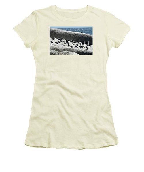 Women's T-Shirt (Junior Cut) featuring the digital art African Penguin 4 by Eva Kaufman