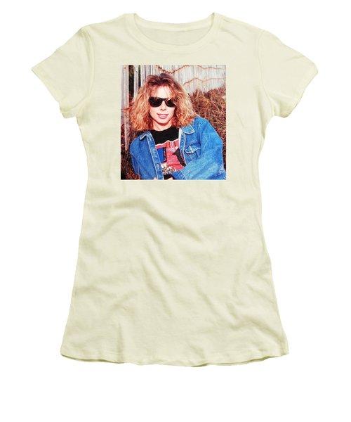 Ahhhh Belindas Beach Days Women's T-Shirt (Junior Cut) by Belinda Lee