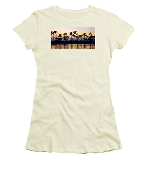 Women's T-Shirt (Junior Cut) featuring the photograph Ala Wai Harbor by Gina Savage