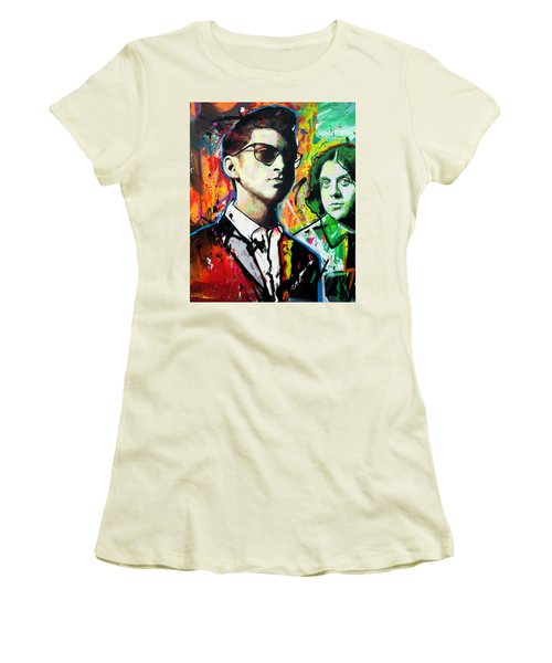 Women's T-Shirt (Junior Cut) featuring the painting Alex Turner by Richard Day