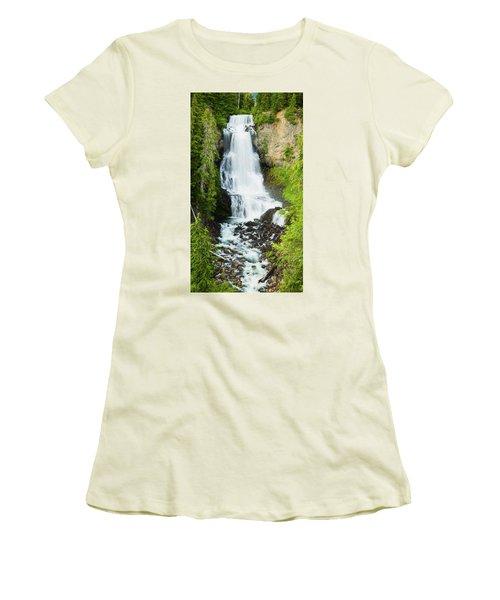 Women's T-Shirt (Junior Cut) featuring the photograph Alexander Falls - 2 by Stephen Stookey