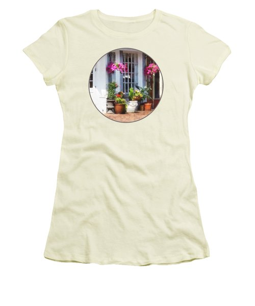 Alexandria Va - Corner Of King Street And S Alfred Women's T-Shirt (Junior Cut) by Susan Savad