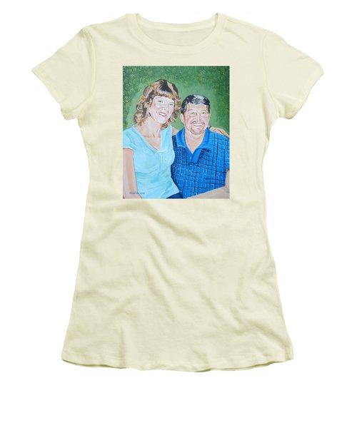 Alicia And Lee Women's T-Shirt (Junior Cut) by John Keaton