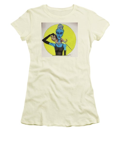 Alien At Tiffany's Women's T-Shirt (Junior Cut)