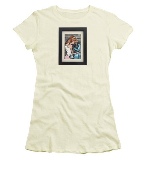 Women's T-Shirt (Junior Cut) featuring the painting Alien Seduction by Similar Alien
