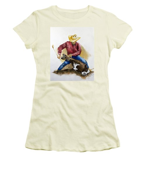 All Cinched Up Women's T-Shirt (Junior Cut) by Jimmy Smith