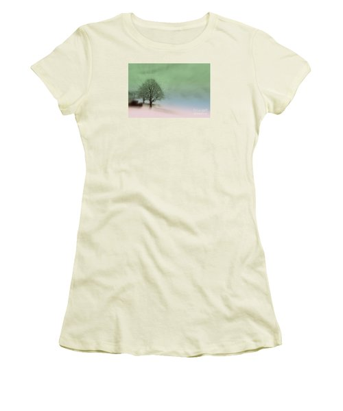 Women's T-Shirt (Junior Cut) featuring the photograph Almost A Dream - Winter In Switzerland by Susanne Van Hulst