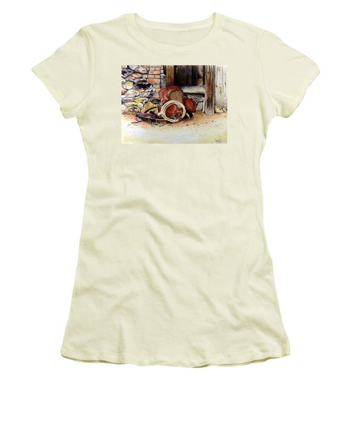 Amanda's Saddle Women's T-Shirt (Junior Cut) by Jimmy Smith