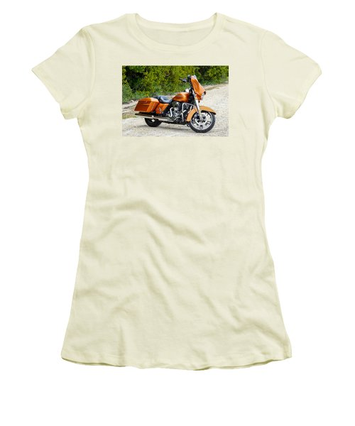 Amber Whiskey Street Glide Women's T-Shirt (Athletic Fit)