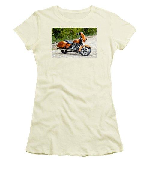 Amber Whiskey Street Glide Women's T-Shirt (Junior Cut) by John McArthur