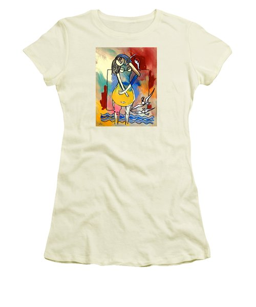 Ameeba- Pear Woman Women's T-Shirt (Athletic Fit)