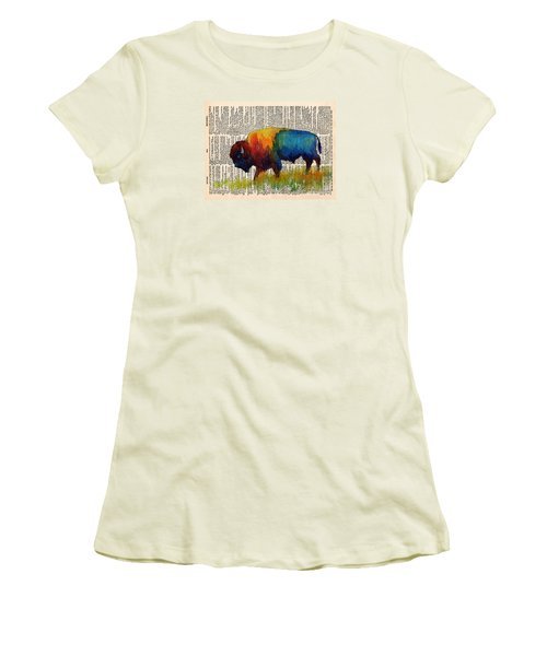 American Buffalo IIi On Vintage Dictionary Women's T-Shirt (Athletic Fit)
