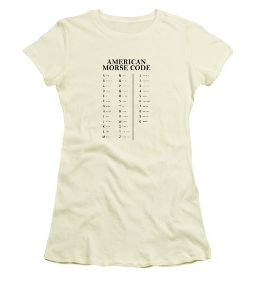 American Morse Code Women's T-Shirt (Athletic Fit)
