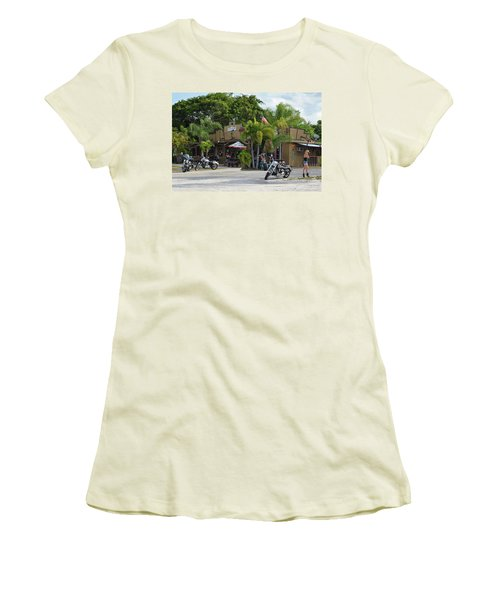 Women's T-Shirt (Athletic Fit) featuring the photograph American Roadhouse by Laura Fasulo