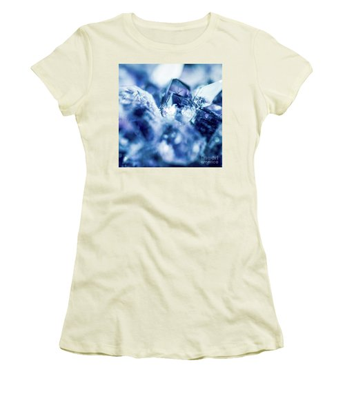 Women's T-Shirt (Junior Cut) featuring the photograph Amethyst Blue by Sharon Mau