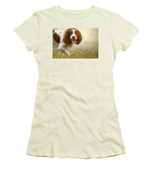 Amongst The Flowers Women's T-Shirt (Athletic Fit)