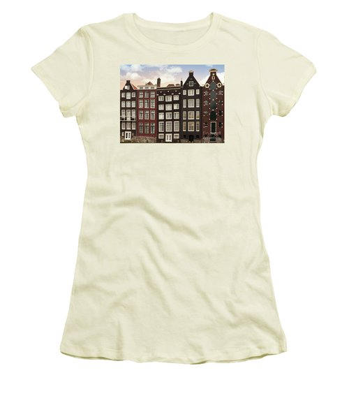 Amsterdam Architectre At Twilight Women's T-Shirt (Athletic Fit)