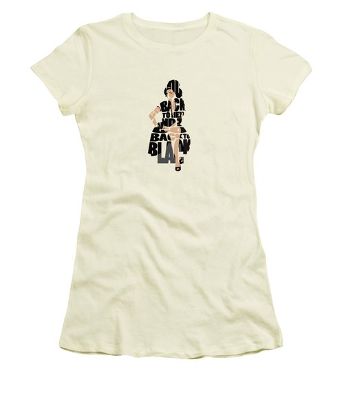 Amy Winehouse Typography Art Women's T-Shirt (Athletic Fit)