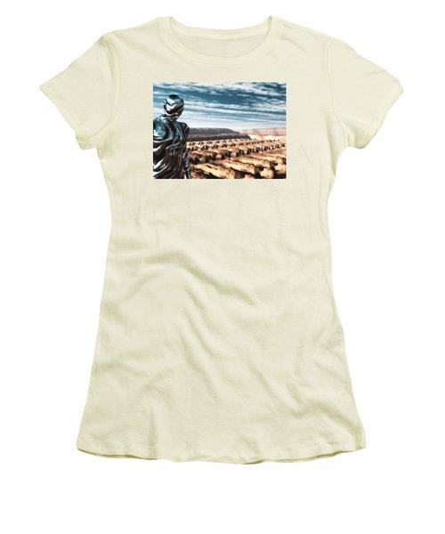 Women's T-Shirt (Junior Cut) featuring the digital art An Untitled Future by John Alexander
