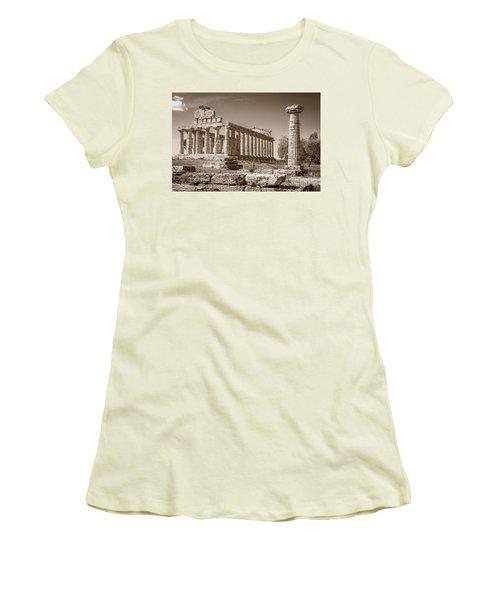 Ancient Paestum Architecture Women's T-Shirt (Athletic Fit)