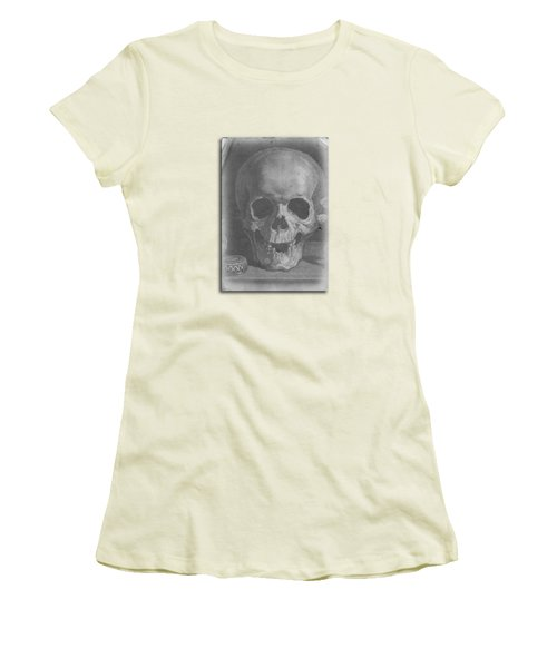 Ancient Skull Tee Women's T-Shirt (Junior Cut) by Edward Fielding