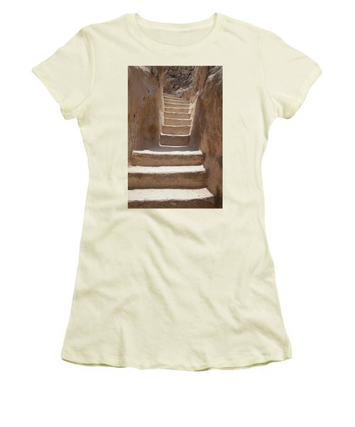 Ancient Stairs Women's T-Shirt (Junior Cut) by Yoel Koskas