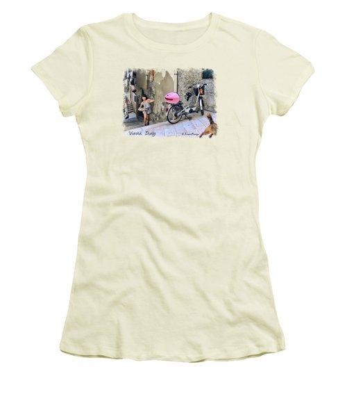 Angel Face.vieste.italy Women's T-Shirt (Junior Cut) by Jennie Breeze