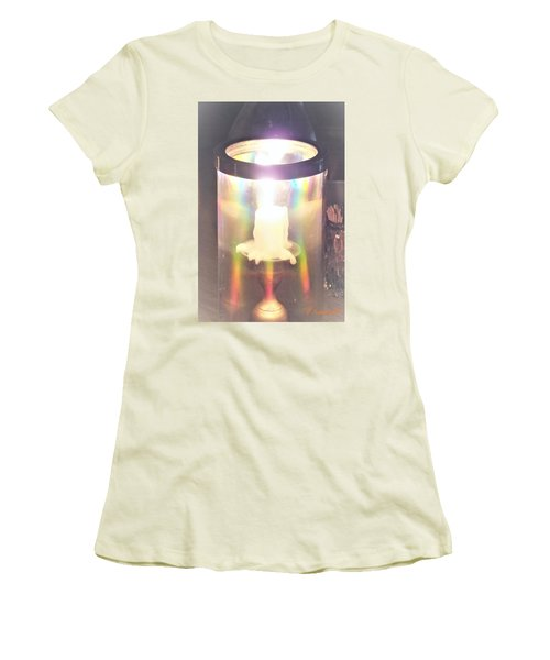 Women's T-Shirt (Athletic Fit) featuring the photograph Angel Fire by Denise Fulmer
