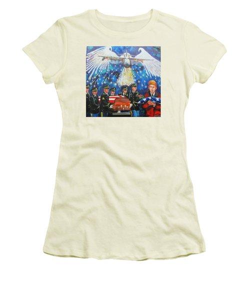 Angel Flight Women's T-Shirt (Junior Cut) by Ken Pridgeon