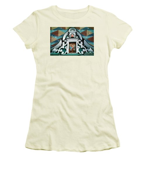Angel Icon At Trinity Lavra Of St. Sergius Monastery Women's T-Shirt (Junior Cut) by Wernher Krutein