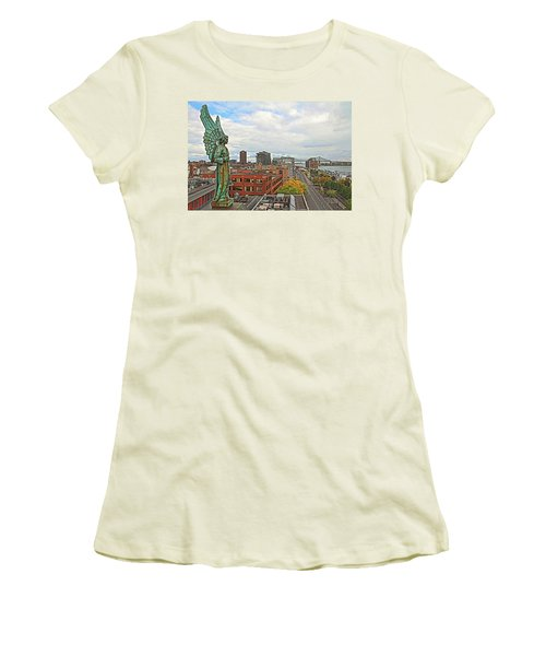 Angel Of Old Montreal Women's T-Shirt (Athletic Fit)