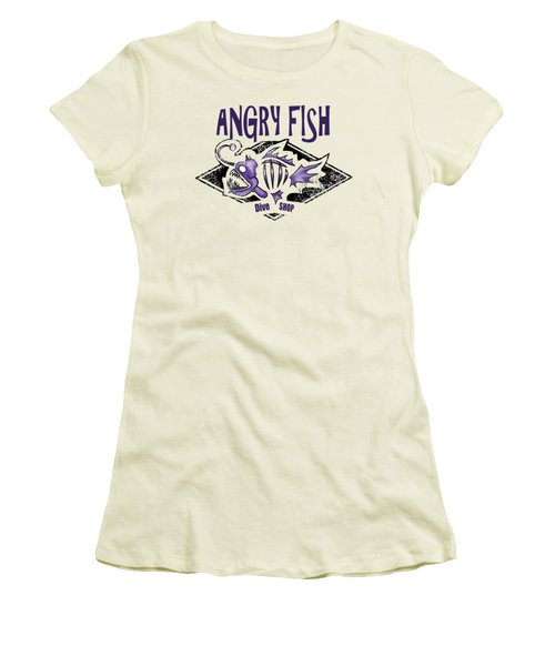 Angry Fish Women's T-Shirt (Athletic Fit)