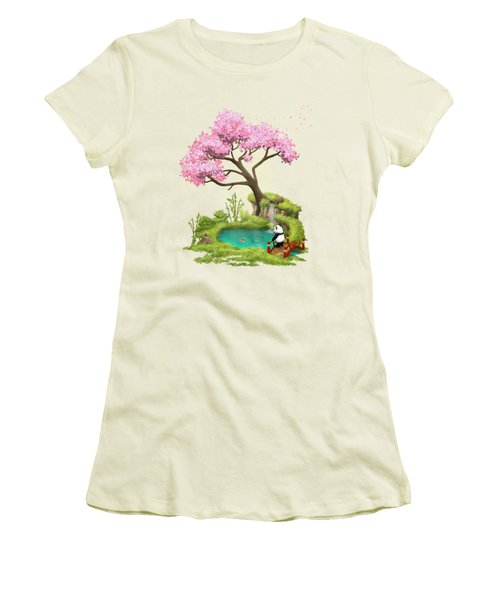 Anjing II - The Zen Garden Women's T-Shirt (Junior Cut) by Carlos M R Alves