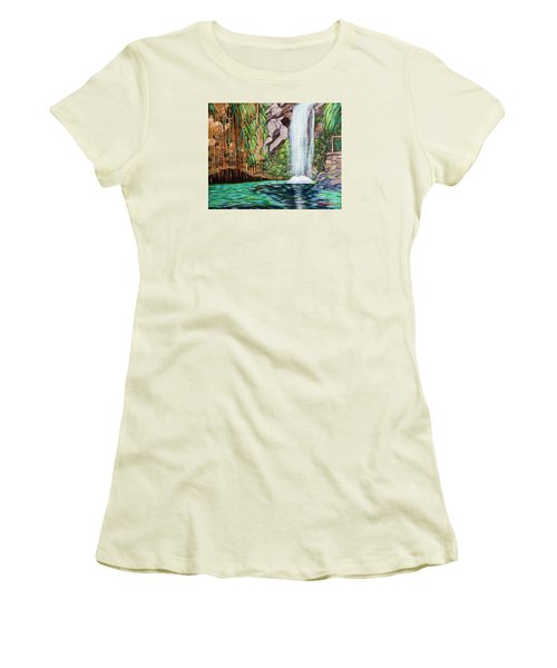 Annandale Waterfall Women's T-Shirt (Athletic Fit)