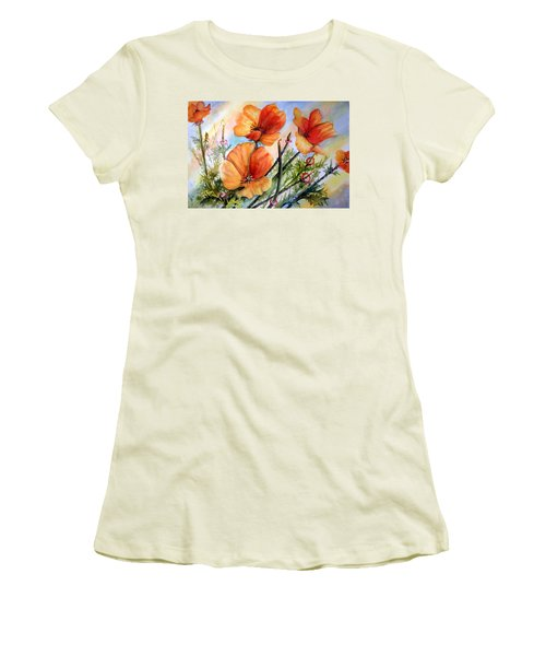 Antelope Valley Poppy Fields Women's T-Shirt (Athletic Fit)
