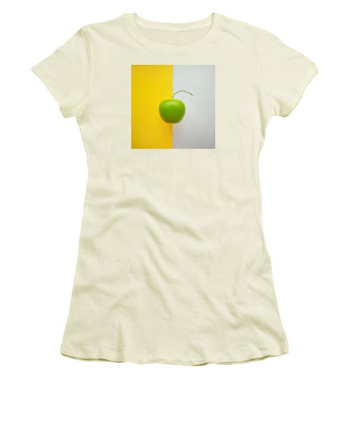 Green Apple Women's T-Shirt (Junior Cut) by Ann Foo