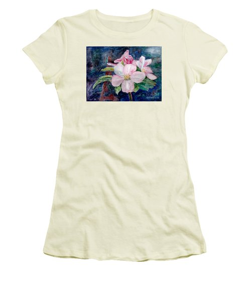 Apple Blossom - Painting Women's T-Shirt (Athletic Fit)