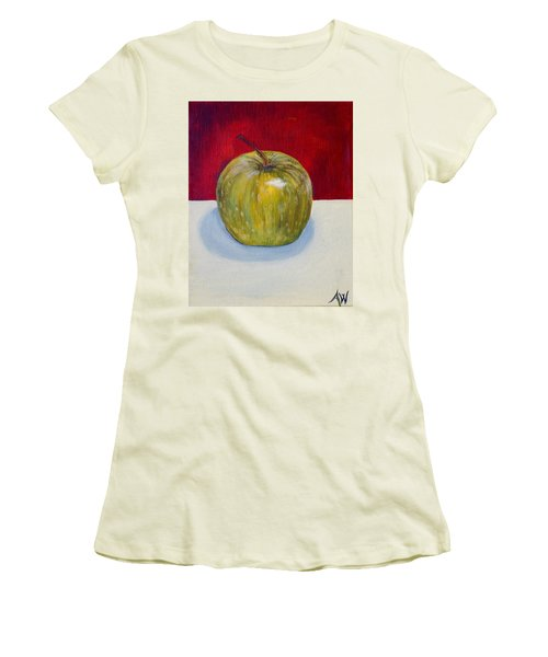 Apple Study Women's T-Shirt (Athletic Fit)