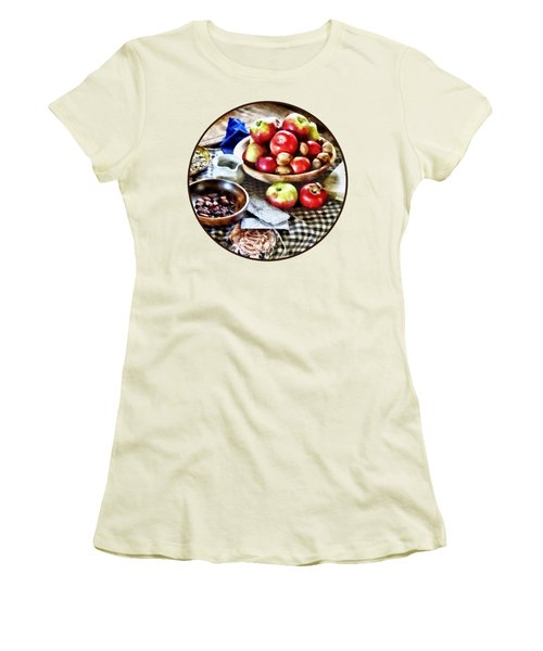 Apples And Nuts Women's T-Shirt (Junior Cut) by Susan Savad
