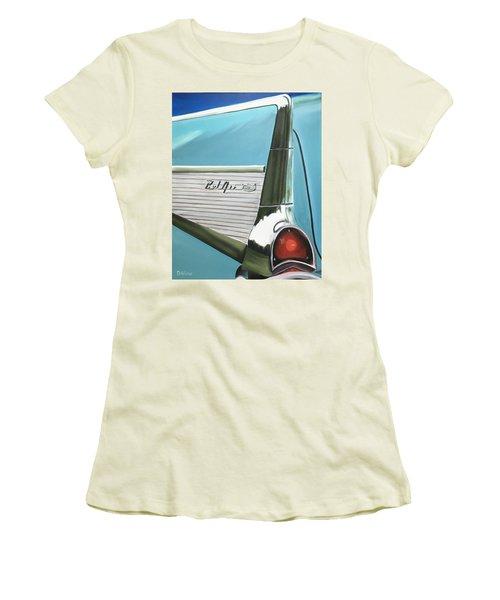 Aqua Fin Women's T-Shirt (Athletic Fit)