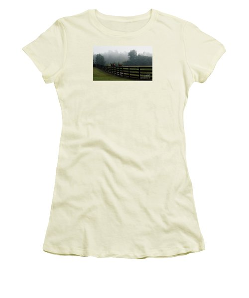 Arabian Horse Landscape Women's T-Shirt (Athletic Fit)